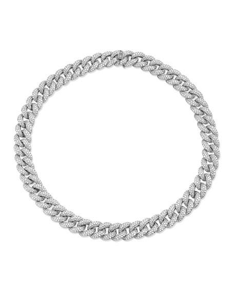 "Sydney Evan 14k White Gold Micro Diamond-Link Necklace, 16""L"