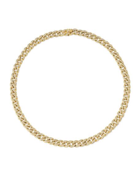 "Sydney Evan 14k Mini Diamond-Link Necklace, 16""L"