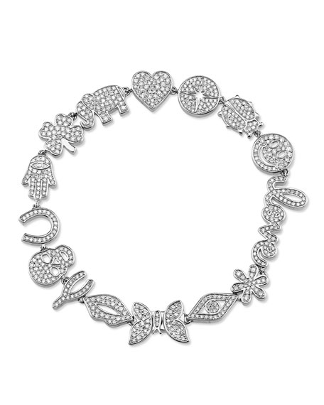 Sydney Evan 14k White Gold Anniversary Bracelet w/ Diamonds