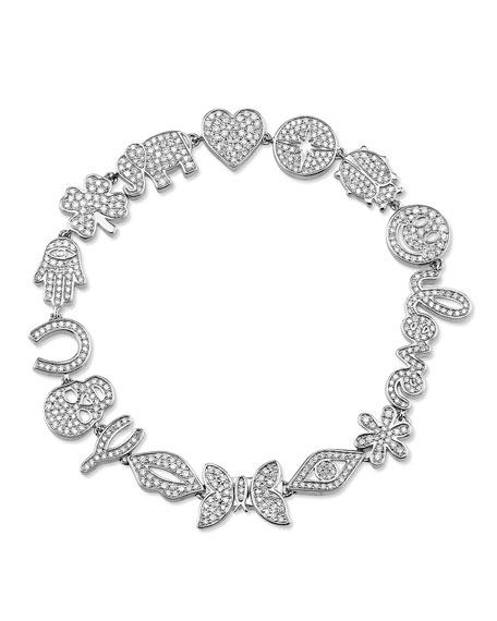 Sydney Evan 14k White Gold Anniversary Bracelet w/ Diamonds