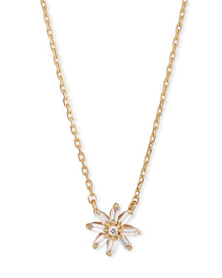 Suzanne Kalan 18k Diamond & Baguette Starburst Necklace