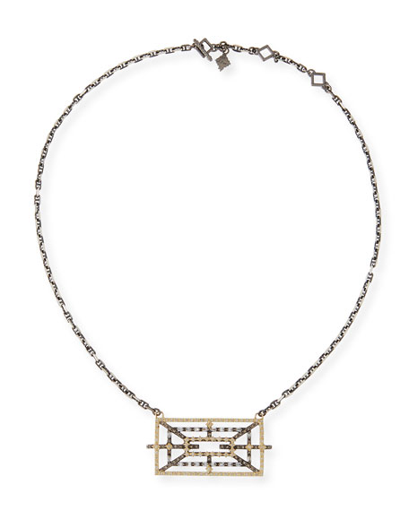 Armenta Old World Diamond Rectangular Pendant Necklace