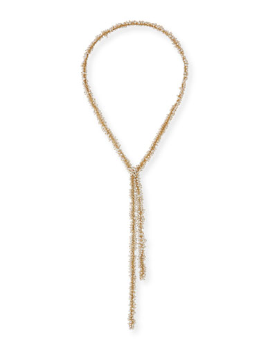 Small Pearl Cluster Lariat Necklace  40L
