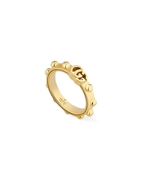 Gucci 18k GG Running Ring, Size 6.25