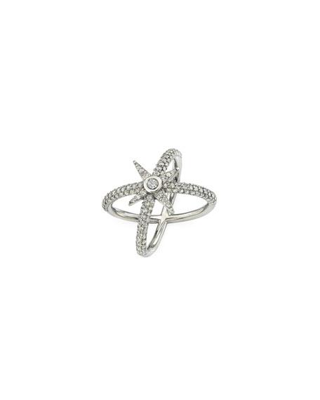Sheryl Lowe Pave Diamond Starburst Ring, Size 6