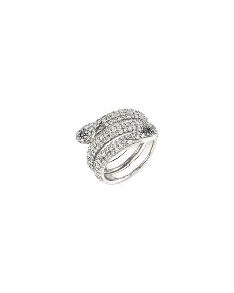Sheryl Lowe Coiled Diamond Snake Ring, Size 7