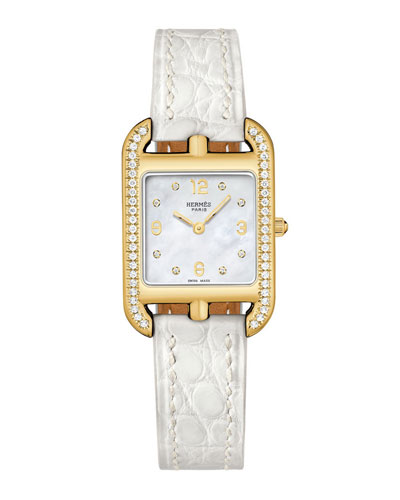 Cape Cod Diamond Watch  18K Yellow Gold & Alligator Strap