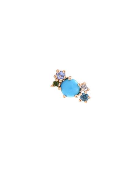 Stevie Wren 14k Gold Turquoise & Diamond Mini Cluster Ear Climber, Right