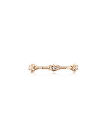 Stevie Wren 14k White Diamond Starburst Ring, Size 7