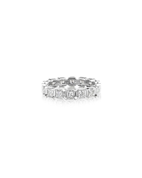 Maria Canale 18k White Gold Diamond Eternity Ring
