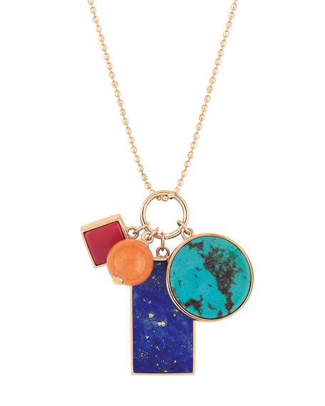 GINETTE NY 18k Rose Gold Ever Charm Necklace
