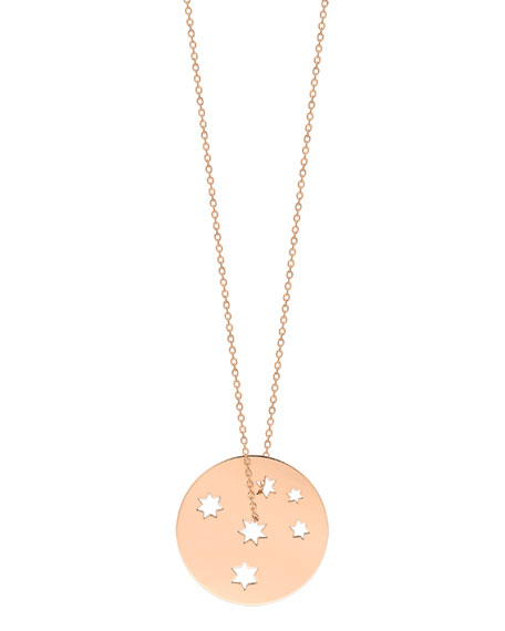 GINETTE NY 18k Rose Gold Milk Way Disc Pendant Necklace