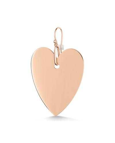 18k Rose Gold Solo Jumbo Angele Heart Earring