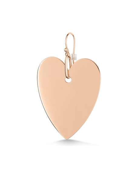GINETTE NY 18k Rose Gold Solo Jumbo Angele Heart Earring