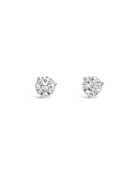 NM Diamond Collection 18k White Gold Diamond Martini Stud Earrings, 1.41tcw