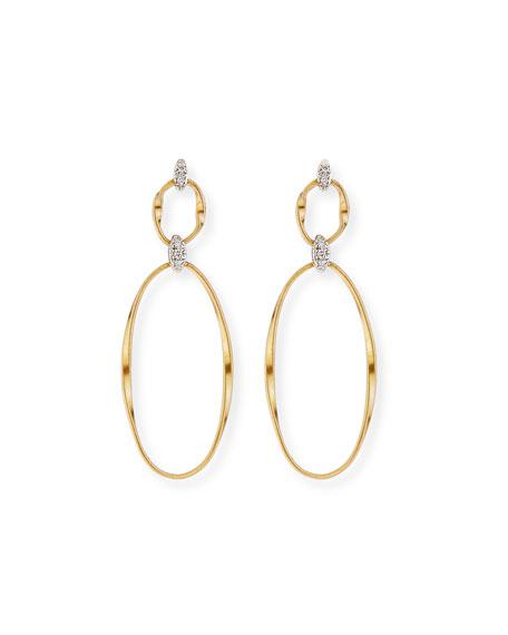 Marco Bicego Marrakech 18k Diamond 2-Drop Earrings