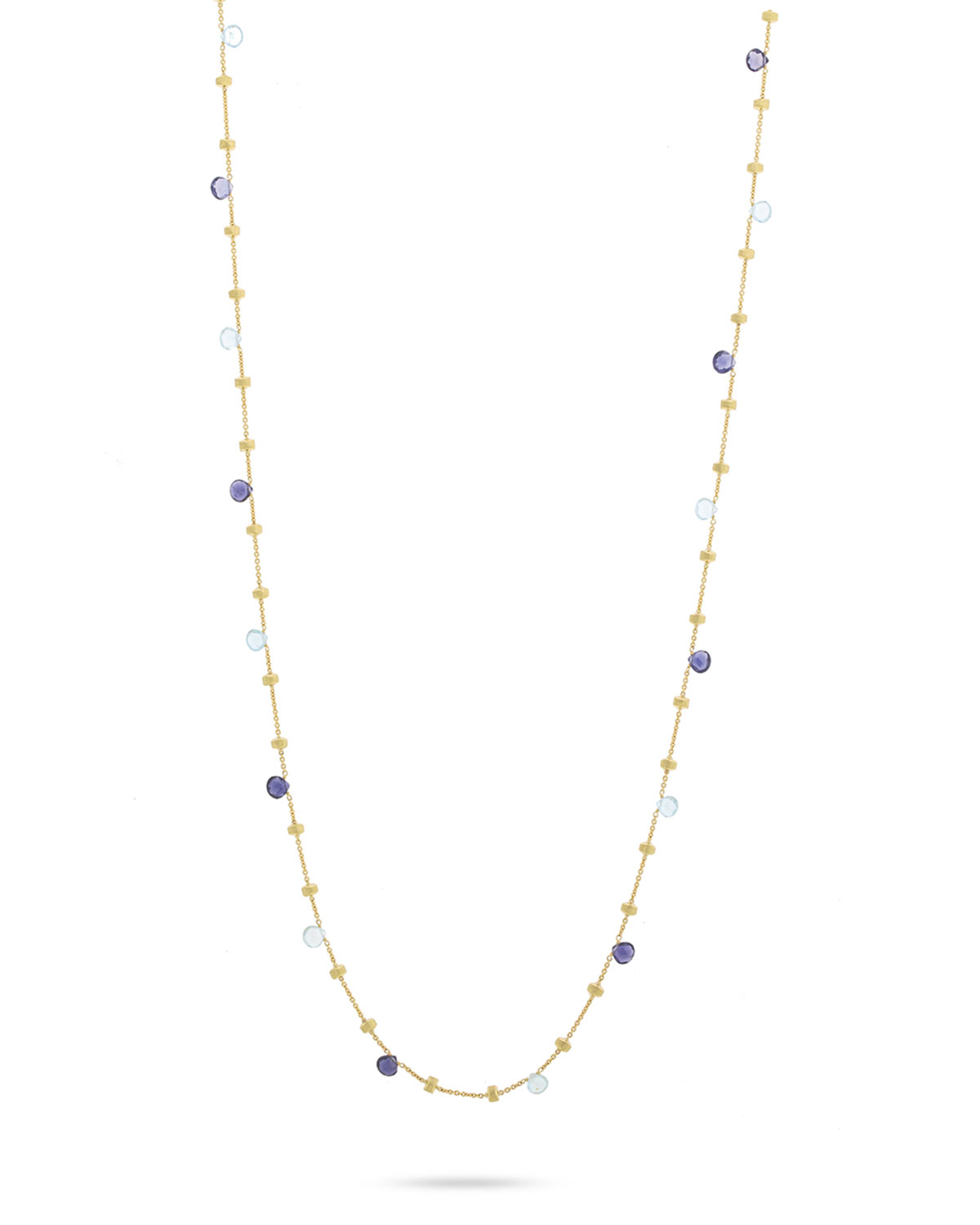 Marco Bicego Paradise 18k Blue Topaz Long Necklace