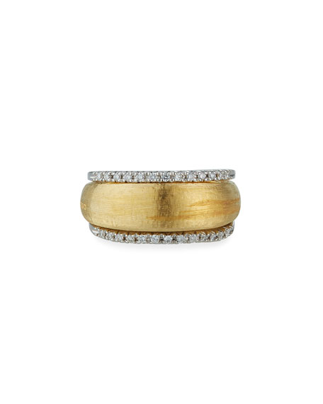 Image 1 of 3: Marco Bicego 18k 2-Row Diamond Ring
