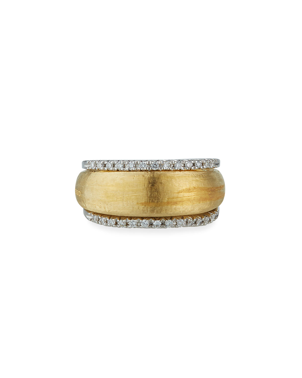 Marco Bicego 18k 2-Row Diamond Ring