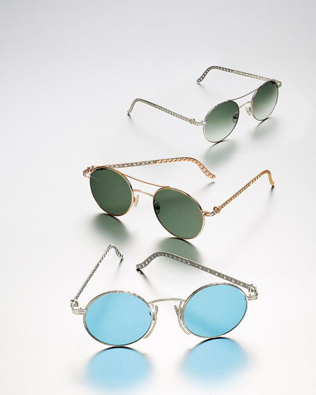 Image 2 of 5: Jack Kelege & Company Limited Edition 14k Rose Gold Diamond Sunglasses
