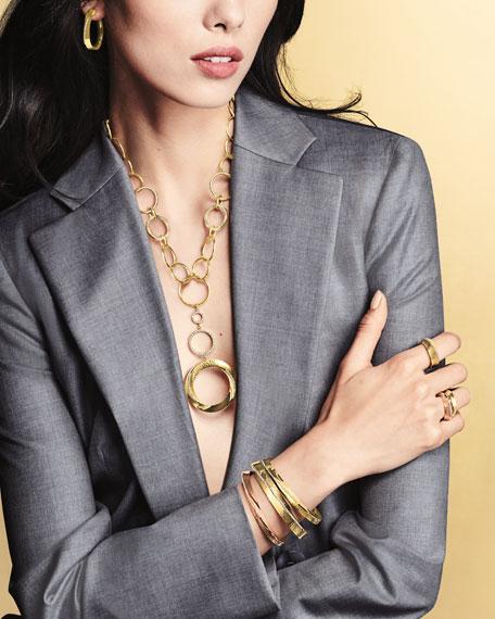 Vendorafa 18k Gold Hula Hoop Diamond-Pave Bangle
