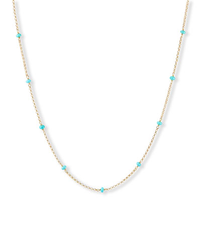 Cable Collectibles Turquoise Necklace  36L