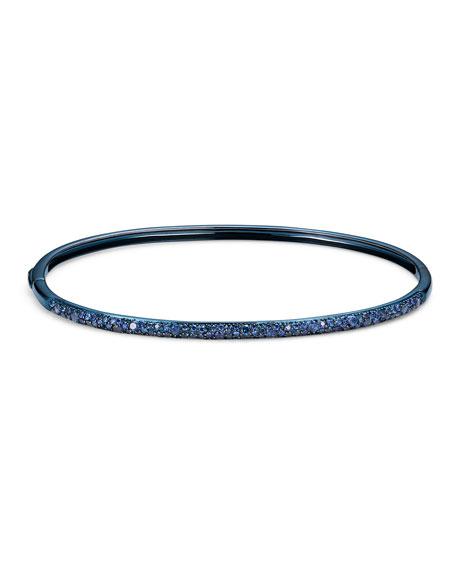 LANA Blue Sapphire Curved Oval Bangle