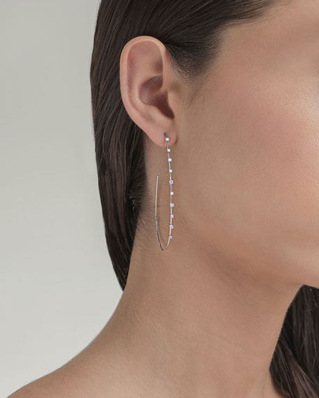 LANA Large Solo Teardrop Diamond Hoop Earrings