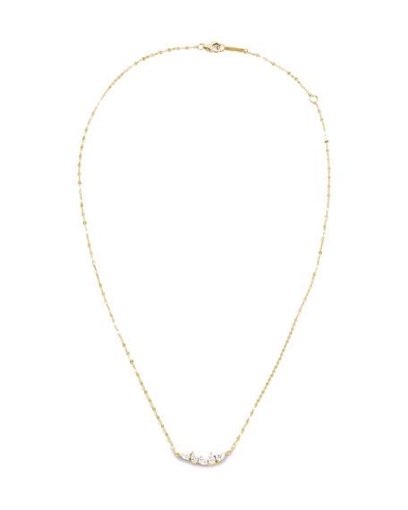 LANA Multi-Diamond Solo Pear Pendant Necklace