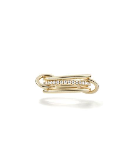 Spinelli Kilcollin 18k Sonny 3-Link Ring w/ Micropave Diamonds