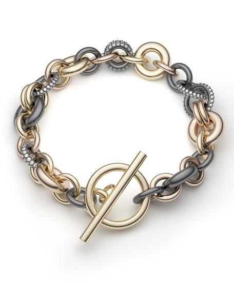 "Spinelli Kilcollin 18k Multi-Chain Bracelet w/ Diamonds, 8""L"
