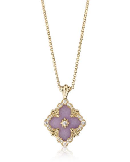 Buccellati Opera Color 18k Pendant Necklace, Lavender Jade