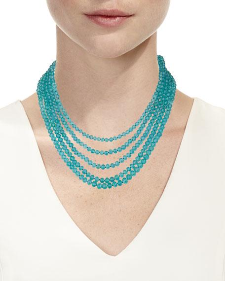 Splendid 18k Five-Row Apatite Necklace