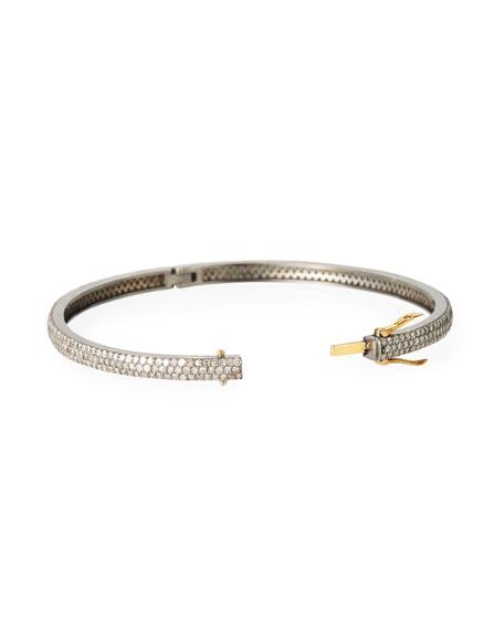 Siena Jewelry 3-Row Diamond Bangle Bracelet