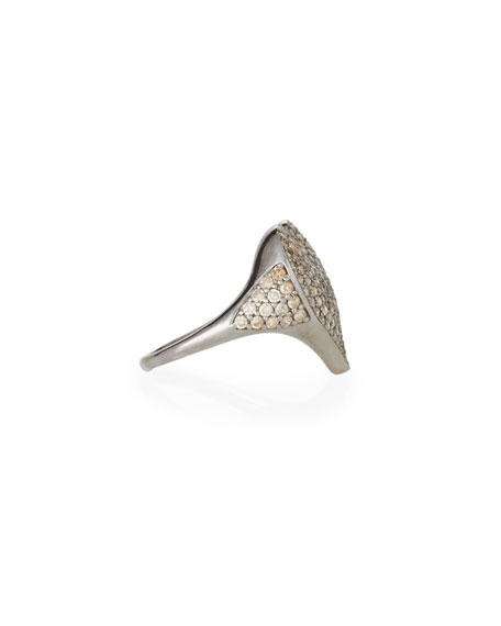 Siena Jewelry Sterling Silver Diamond Heart Ring, Size 6.75