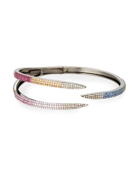 Siena Jewelry Multicolor 3-Claw Bracelet, Size Large