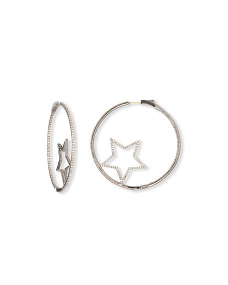 Siena Jewelry Diamond Star Hoop Earrings