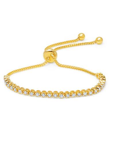 18k Yellow Gold Diamond Bolo Bracelet