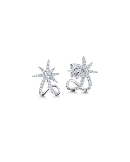 Graziela Gems 18k White Gold Diamond Starburst Ear Cuffs