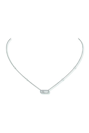 Messika Move Uno Diamond Pave Necklace, White Gold