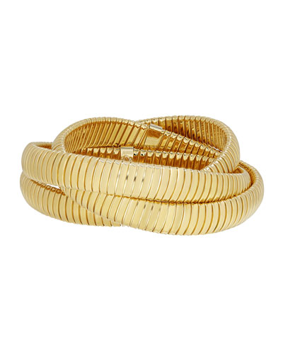 18k Triple Tubogas Wrap Bracelet