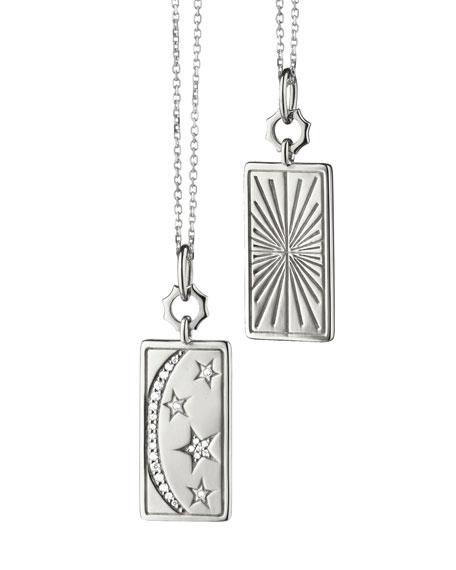 "Monica Rich Kosann Sterling Silver ""My Sun Moon Stars"" Charm Necklace"