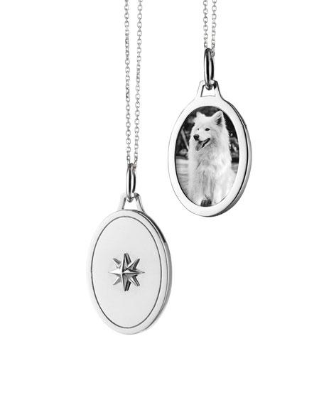 Monica Rich Kosann Oval Star Half Locket Necklace