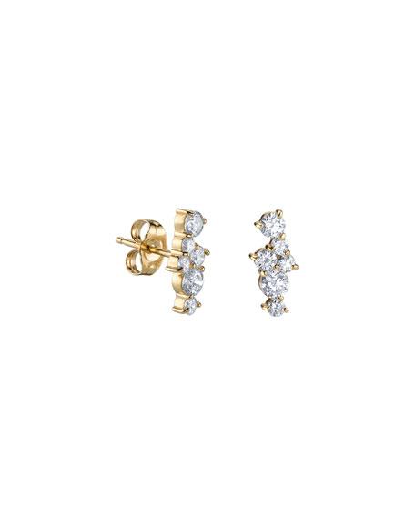 Sydney Evan 14k Diamond Cluster Stud Earrings