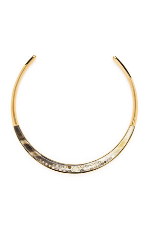 Ashley Pittman Harper Horn Collar w/ Cognac Diamonds