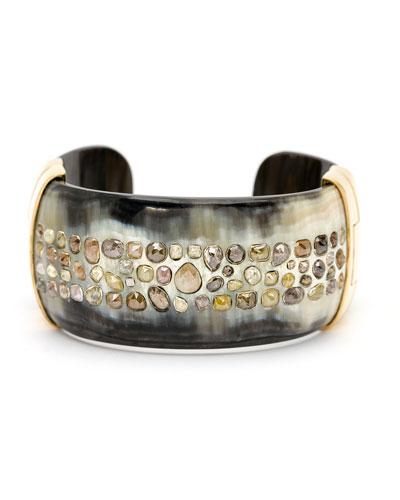 Piper Cognac Diamond Horn Cuff