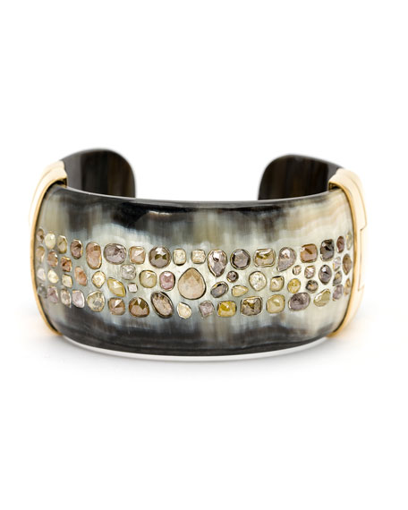 Ashley Pittman Piper Cognac Diamond Horn Cuff