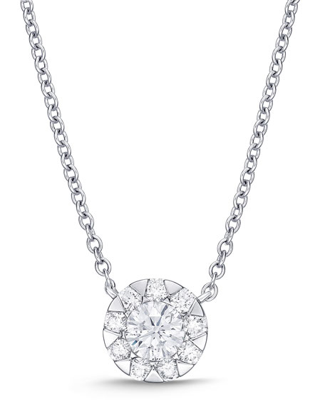 Memoire 18k White Gold Diamond Bouquet Fashion Necklace