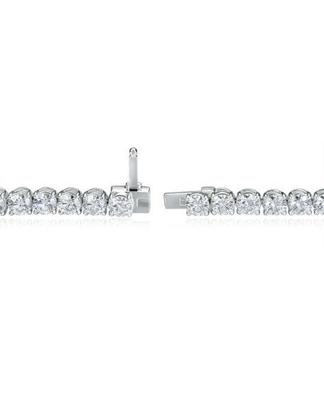 Memoire 18k White Gold Diamond Tennis Bracelet, 7.19tcw