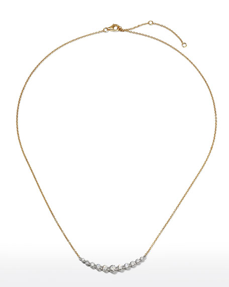 Memoire 18k Gold Diamond Smile Necklace, 1.045tcw